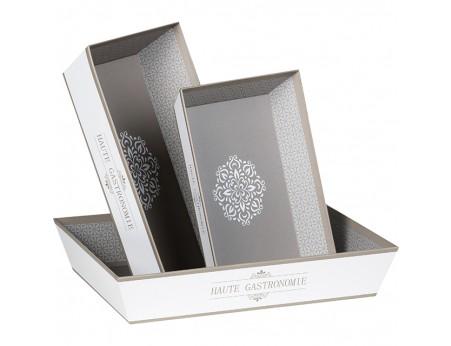 Panier cadeau en carton blanc