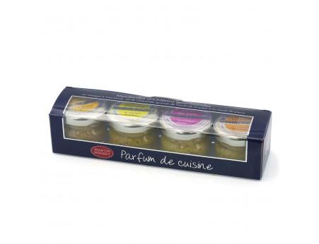 Moutarde d'Orléans Gourmande 4 petits pots Martin Pouret