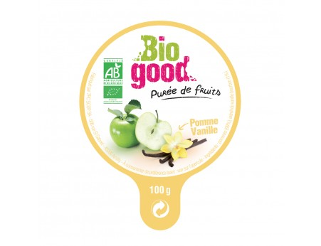 Compote pomme vanille bio