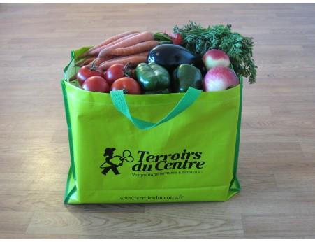 Panier fruits et légumes avec 6 oeufs fermiers