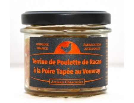 Terrine de Poulette de Racan à la Poire Tapée au Vouvray